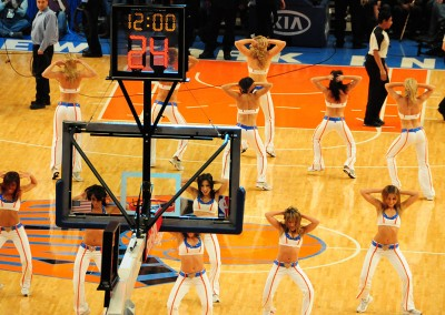 New York City Incentive: Cheerleader beim Spiel der Knicks