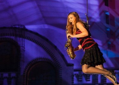 Berlin Incentive: Dinner-Show mit Flying Saxophone