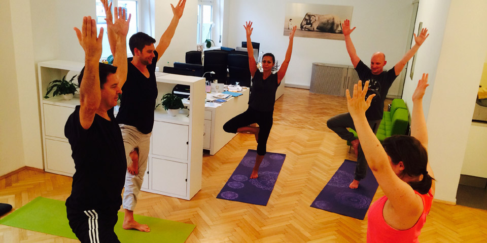 Relax with Yoga in the office